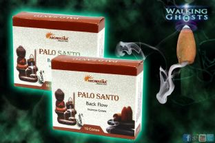 4x 10 Palo Santo  Back-flow  Dry Ice Effect Incense Cones Protection Smudge UK